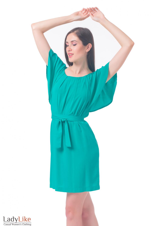 Купить платье зеленого цвета Деловая женская одежда