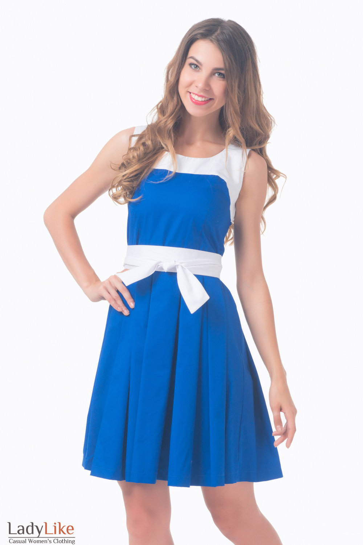 Синее С Белым Платье С Доставкой