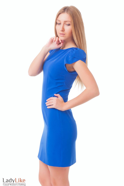 Купить ярко-синее платье Деловая женская одежда