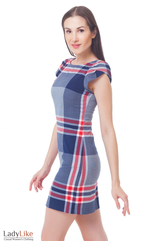 Купить платье в красную клетку Деловая женская одежда
