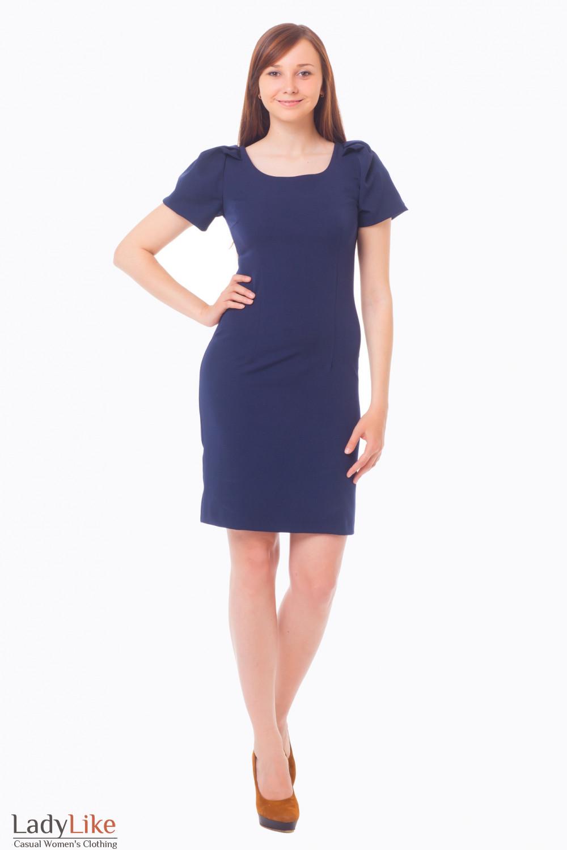 Купить темно-синее платье Деловая женская одежда