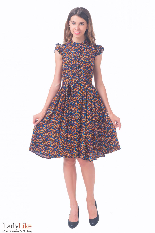 Стильное платьев цветочек Деловая женская одежда