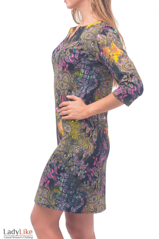 Купить яркое трикотажное платье Деловая женская одежда