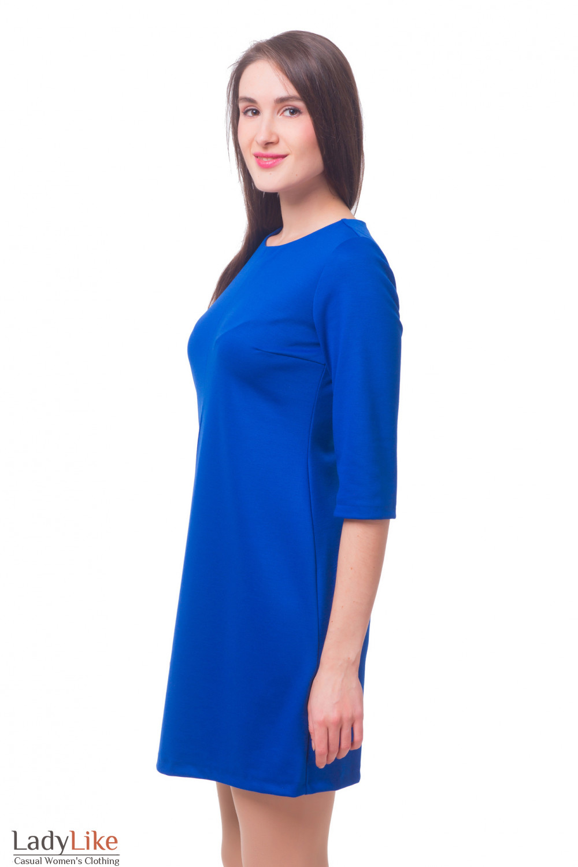 Купить платье трикотажное со встречной складкой Деловая женская одежда