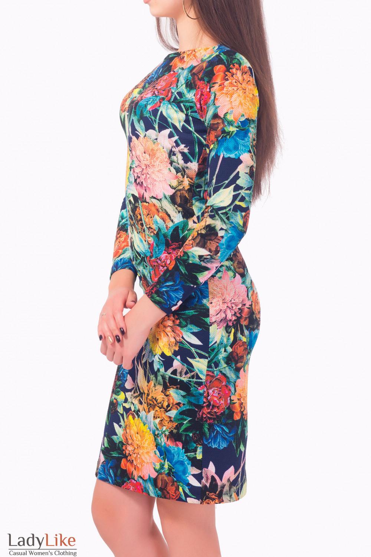 Купить платье трикотажное в цветы Деловая женская одежда