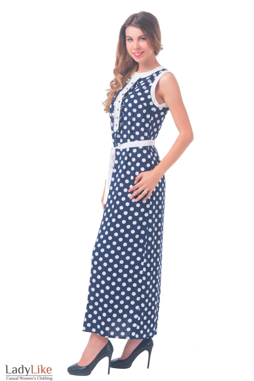 Купить платье в горошек Деловая женская одежда