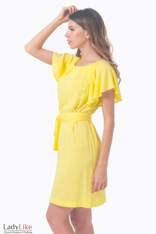 Купить платье желтое с крылышками Деловая женская одежда