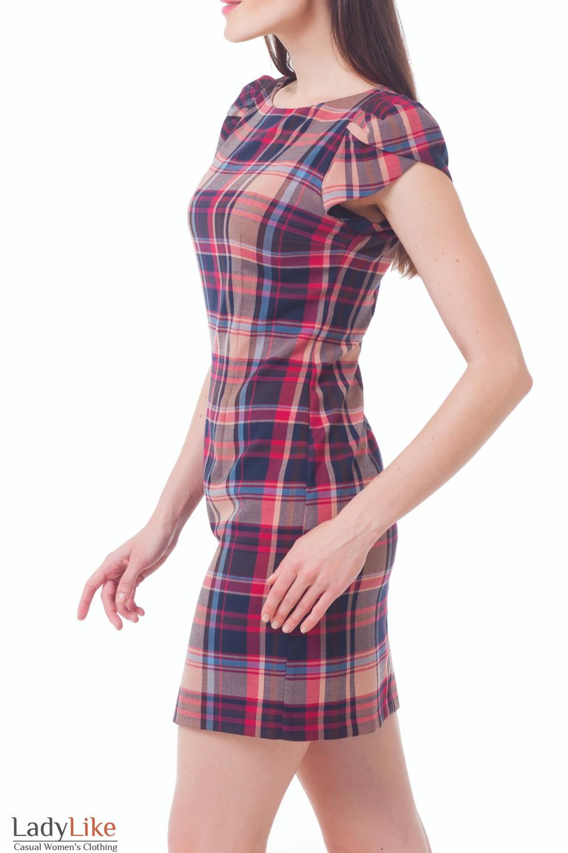 Купить сарафан теплый в красную клетку Деловая женская одежда