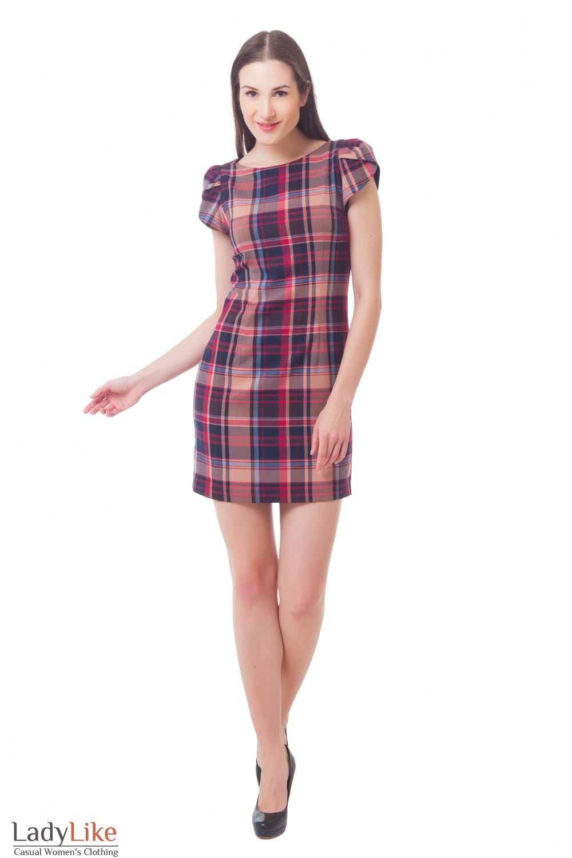 Купить сарафан-футляр в клетку Деловая женская одежда