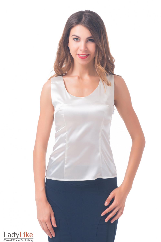 Купить молочный топ Деловая женская одежда