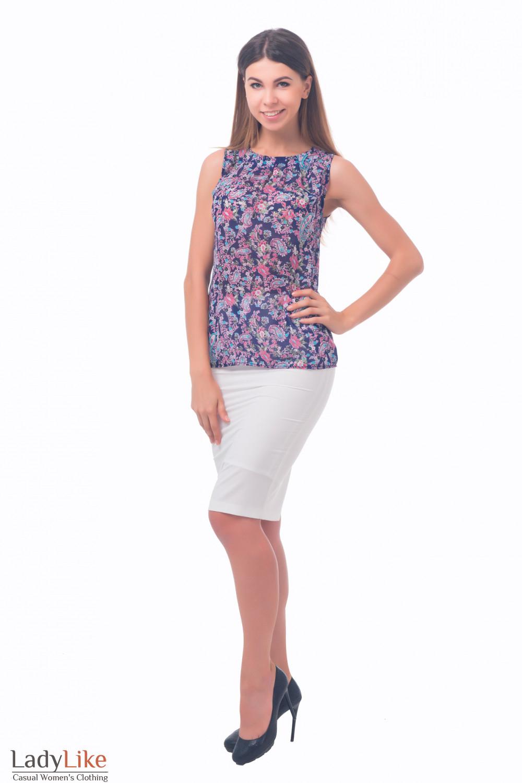 Фото Блузка без рукавов Деловая женская одежда