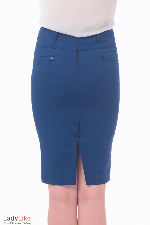 Синяя юбка карандаш доставка