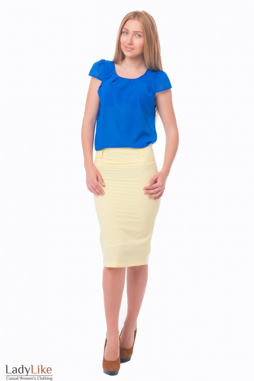 Купить желтую юбку-карандаш Деловая женская одежда