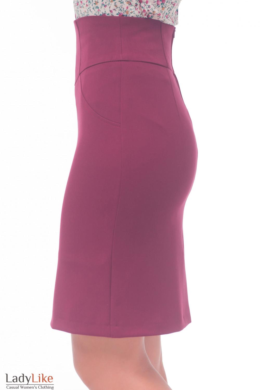 Купить бордовую юбку Деловая женская одежда