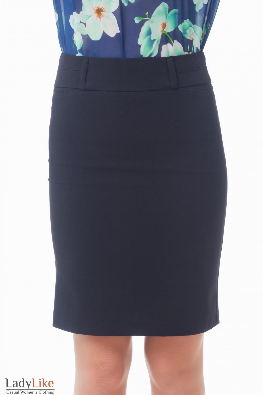 Юбка черная с карманами-обманками Деловая женская одежда