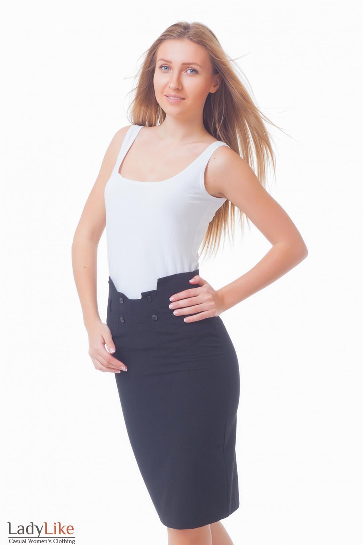 Купить юбку-карандаш с пуговицами Деловая женская одежда