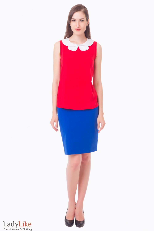 Купить юбку цвета электрик Деловая женская одежда
