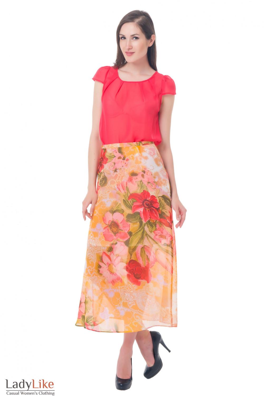 Купить юбку в цветы Деловая женская одежда