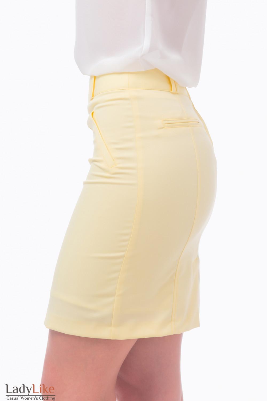 Фото Юбка желтая Деловая женская одежда