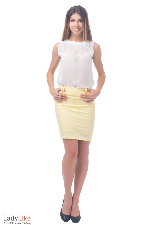 Фото Юбка яркая Деловая женская одежда