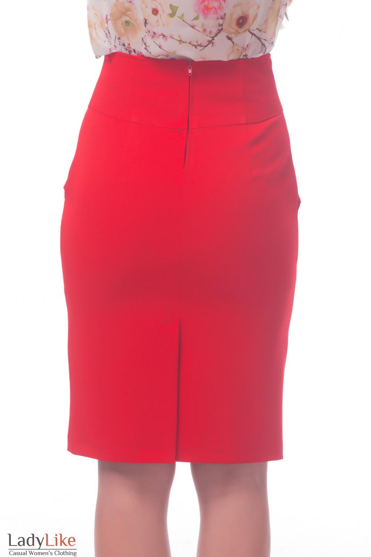 Фото Юбка красная Деловая женская одежда