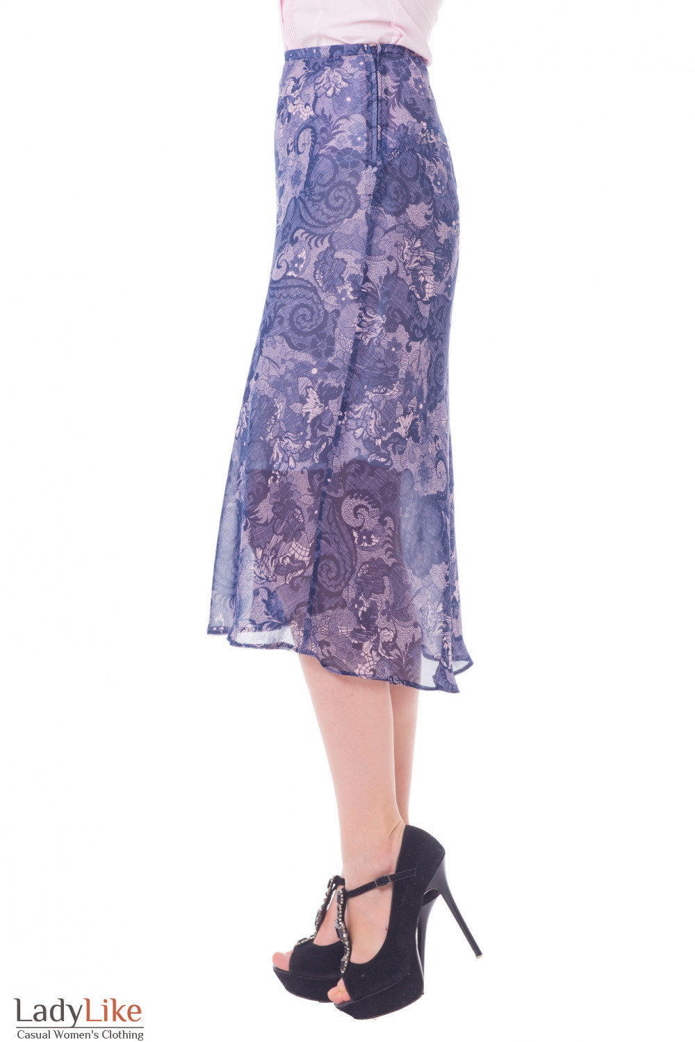 Купить шифоновую юбку миди Деловая женская одежда