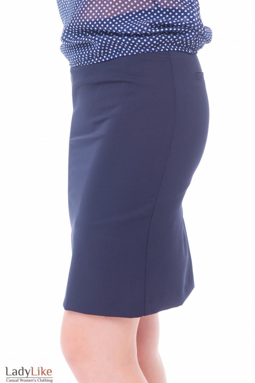 Строгая синяя юбка Деловая женская одежда