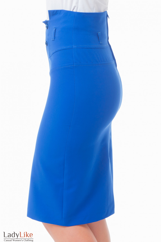 Купить юбку с пуговицами Деловая женская одежда