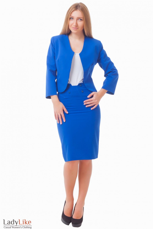 Купить костюм цвета индиго Деловая женская одежда