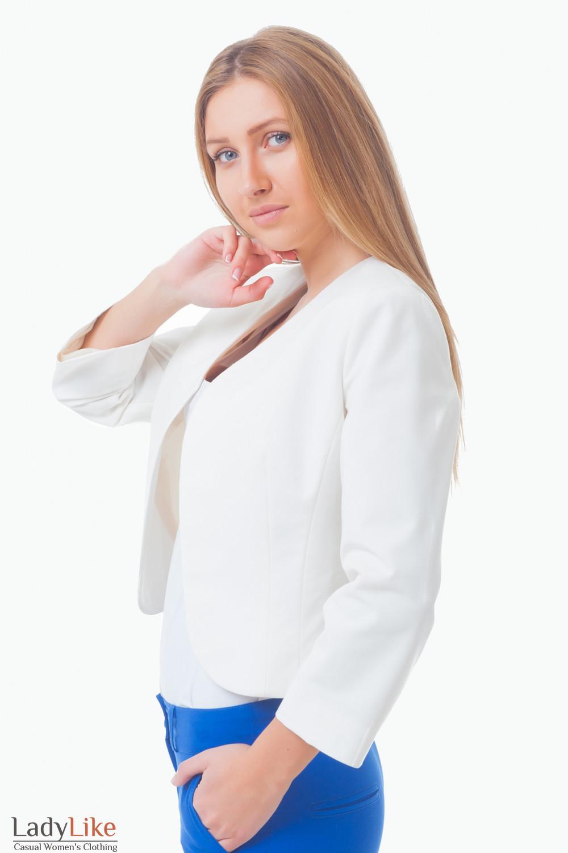 Купить жакет-болеро молочного цвета Деловая женская одежда