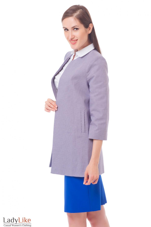 Купить Жакет-кардиган в сиреневый узор Деловая женская одежда