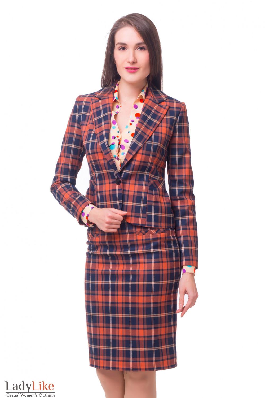 Купить костюм в рыжую клетку Деловая женская одежда