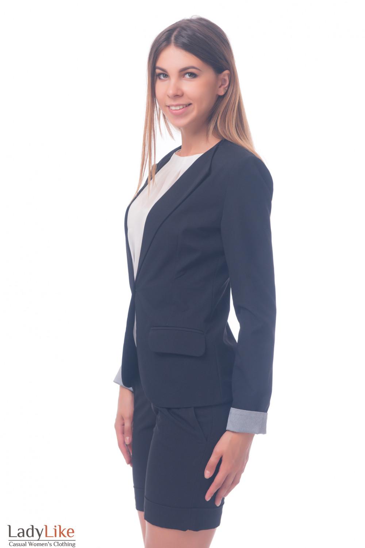 Фото Жакет на одну пуговицу Деловая женская одежда