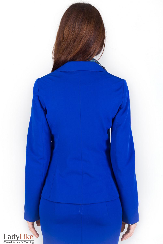 Фото Жакет синий Деловая женская одежда