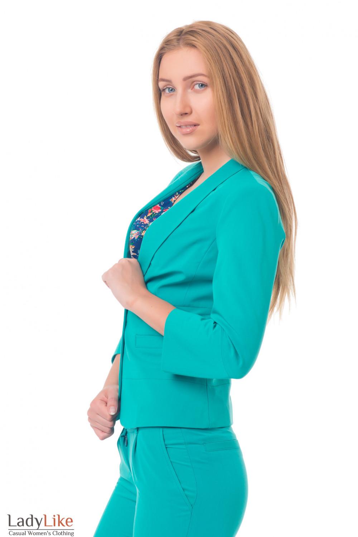 Купить яркий зеленый жакет Деловая женская одежда