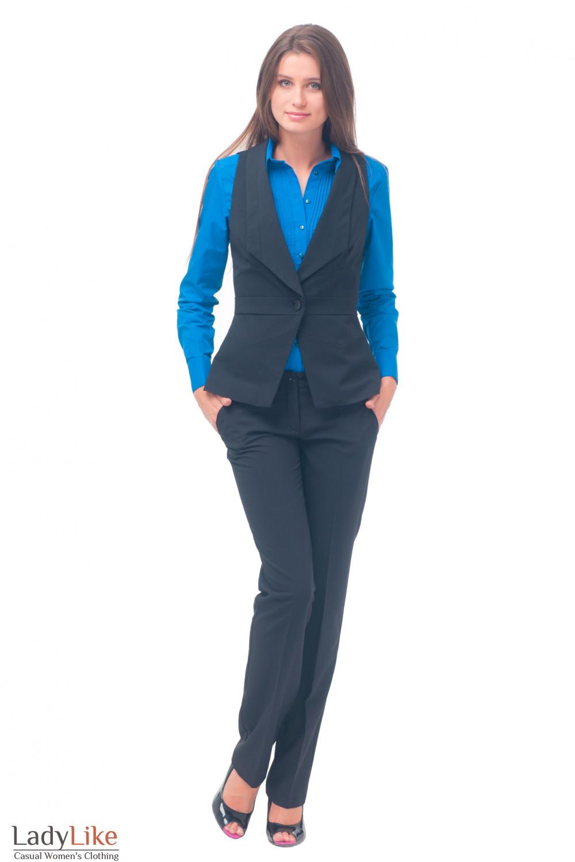 Купить жилет черный женский Деловая женская одежда