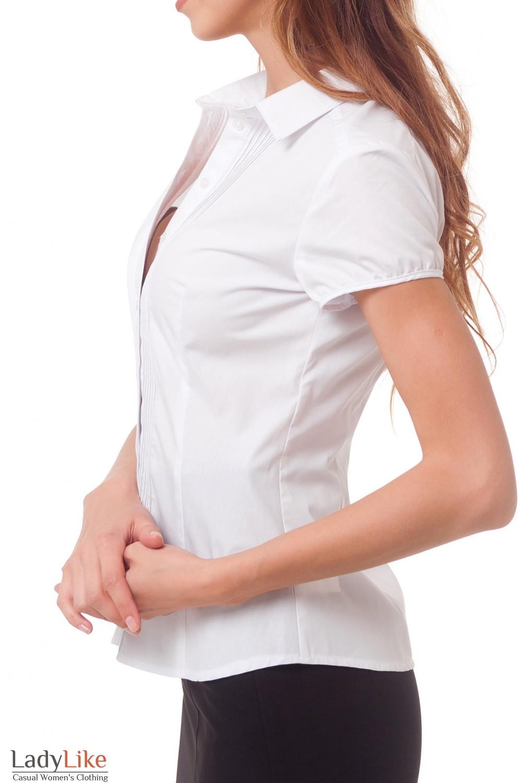 Купить блузку белая с тонкими защипами Деловая женская одежда