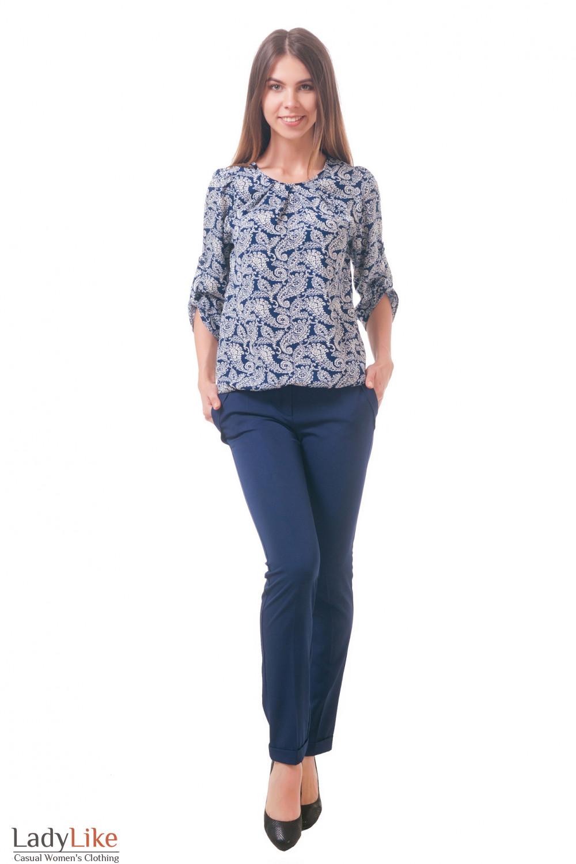 Фото Блузка с защипами Деловая женская одежда