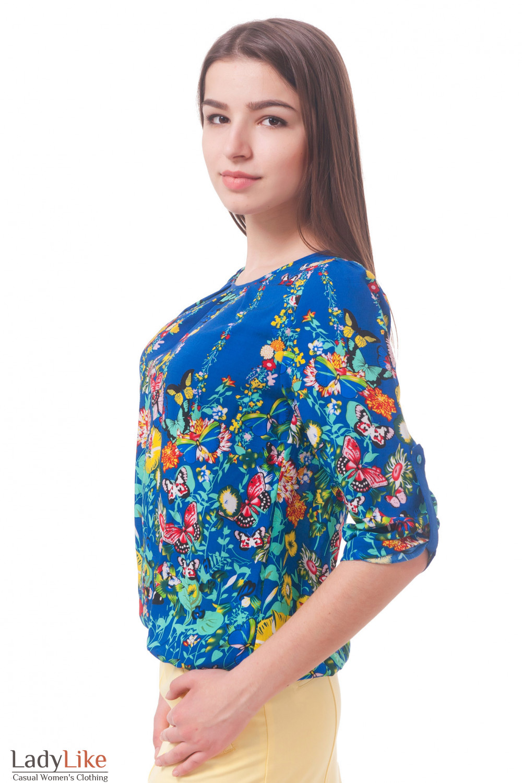 Фото Блузка из штапеля Деловая женская одежда