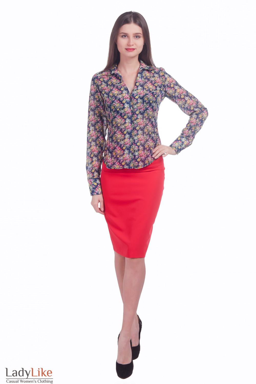 Фото Блузка в цветочки Деловая женская одежда