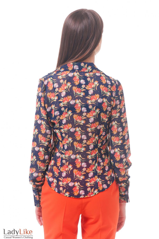Фото Блузка в цветы Деловая женская одежда