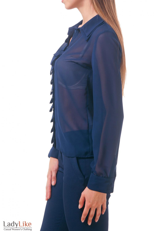 Фото Блузка темно-синяя Деловая женская одежда