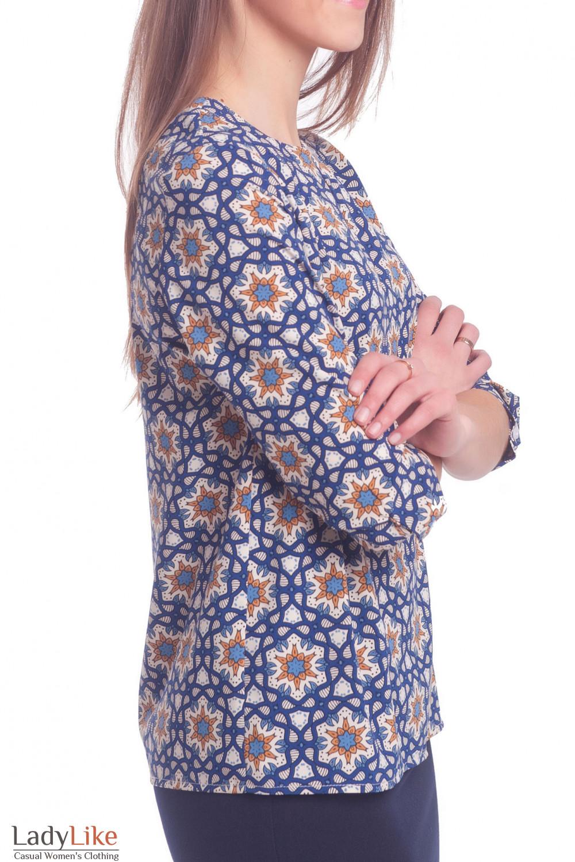 Купить блузку в орнамент с капелькой Деловая женская одежда