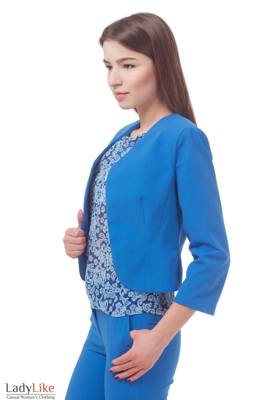 Купить болеро голубое Деловая женская одежда