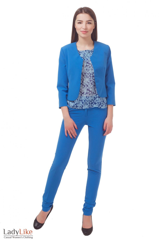 Купить строгое болеро голубое Деловая женская одежда