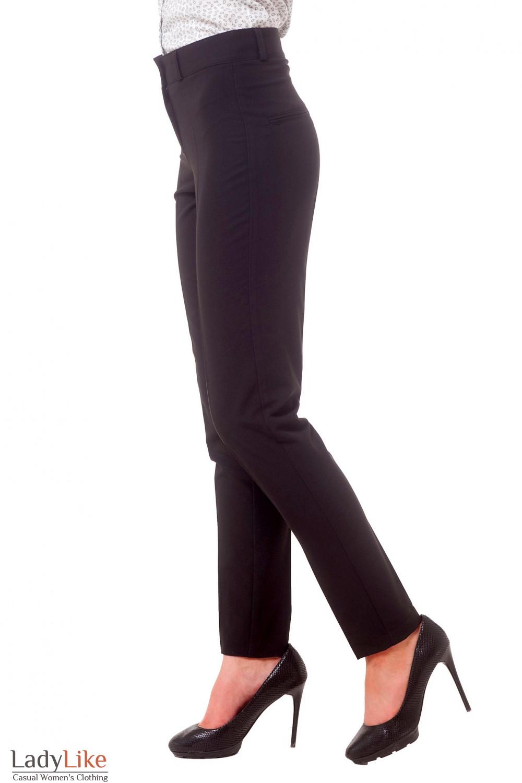 Купить брюки черные с завышенной талией узкие Деловая женская одежда