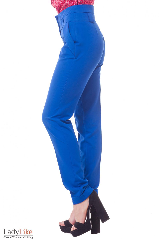 Купить брюки электрик с широким поясом Деловая женская одежда