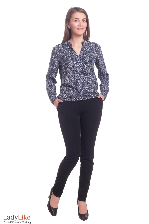 Купить брюки черные с манжетой Деловая женская одежда