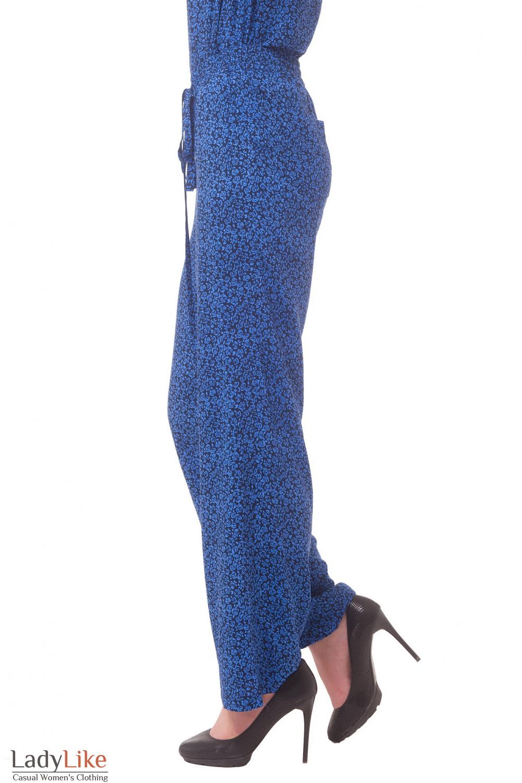 Купить брюки в синие розы Деловая женская одежда