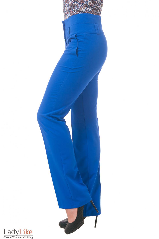 Фото Брюки цвета электрик Деловая женская одежда